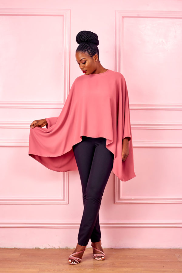 PONCHO OVERSIZED TOP - PINK