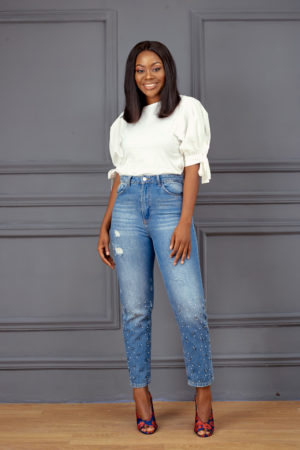 KOTON EMBELLISHED MOM JEANS