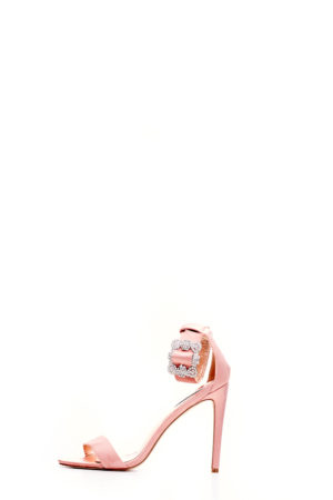 SUZZY EMBELLISHED BUCKLE STRAPPY SANDALS - PINK