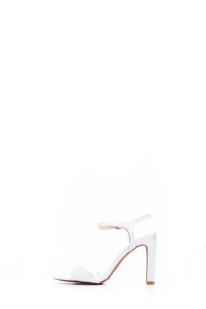 (2 FOR 15K) WHITE HURST PATENT STRAPPY SANDALS
