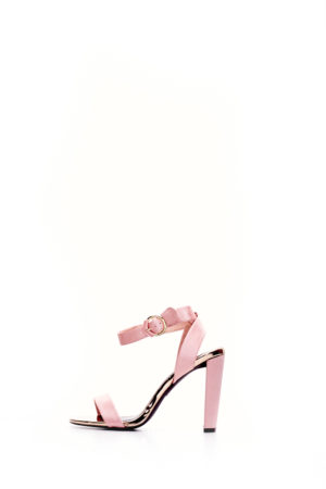 (2 FOR 15K) SATIN ELSI BLOCK HEEL SANDALS - PINK