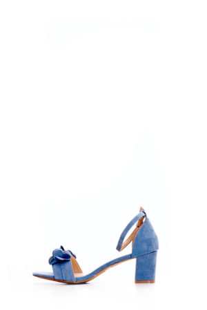 (2 FOR 15K) BLUE SUEDE PETALS DETAIL BLOCK HEEL SANDALS