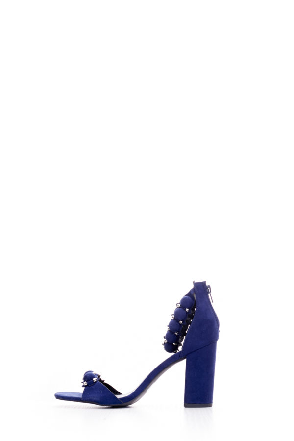(2 FOR 15K) FAMOUS CHESTER BLOCK HEEL - NAVY