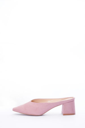 (2 FOR 15K) SUEDE MINI BLOCK MULES - MAUVE