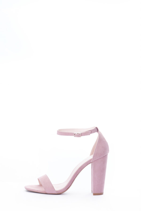 (2 FOR 15K) BLOCK HEEL SANDALS - DESSERT ROSE