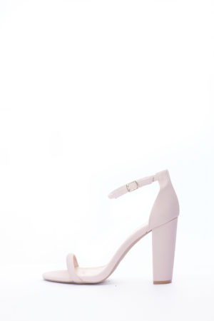 (2 FOR 15K) BLOCK HEEL SANDALS - NUDE