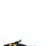(2 FOR 15K)BLACK BUG EMBROIDERED SLIP ON MULES