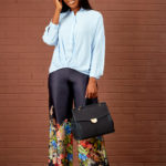 KOTON PALE BLUE DEEP HEM PONCHO SHIRT