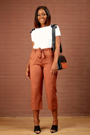 KOTON BROWN CROP PANT