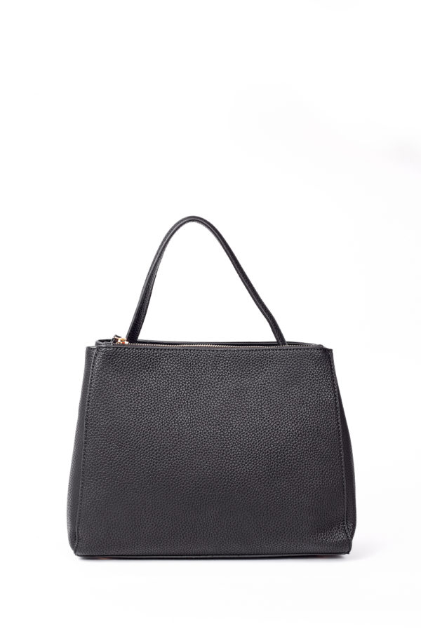 ONE HANDLE MEDIUM TOTE BAG - BLACK