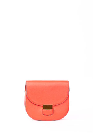 OVAL SHAPED MINI BAG - RED