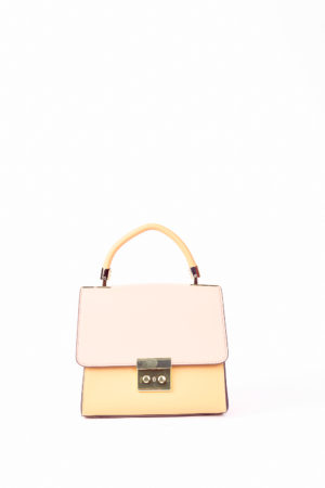 GRAB HANDLE BAG - PINK,NUDE & IVORY