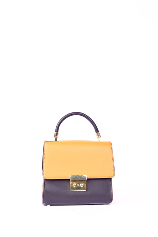 GRAB HANDLE BAG - CAMEL,BLACK & MAUVE
