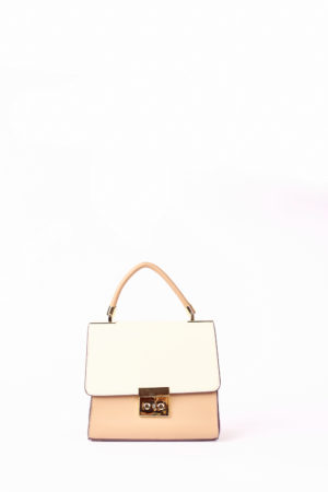 GRAB HANDLE BAG - IVORY,TAUPE & TAN