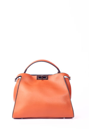 GRAB HANDLE TWISTLOCK TOTE - RUST
