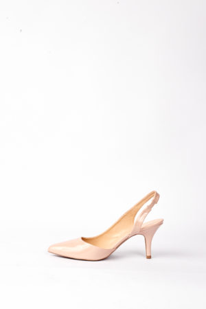 (30% OFF) PORTIA PATENT SLING BACK HEELS - NUDE