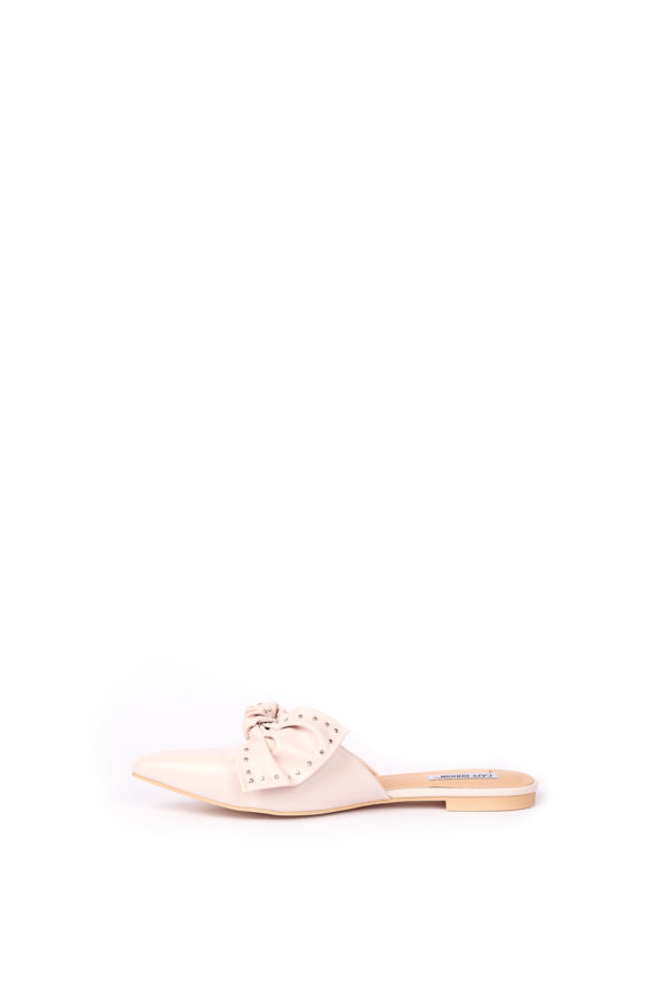(30% OFF) FINE BOW DETAIL SLIP ON - NUDE