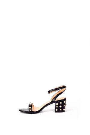 WAGCHIC GOLD EMBELLISHED BLOCK HEEL - BLACK