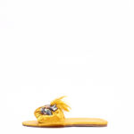 (2 FOR 17K) WAGCHIC FEATHER SLIPPERS - YELLOW