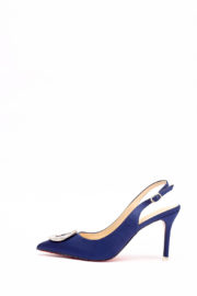 (2 FOR 17K) WAGCHIC BUCKLE SLING BACK HEEL - NAVY