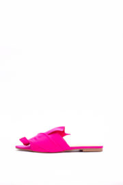(2 FOR 17K) WAGCHIC RUFFLE SLIPPERS - NEON
