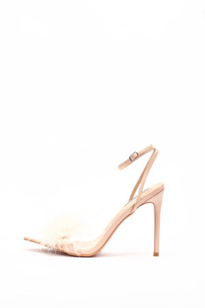 (30% OFF) RAE FEATHER PATENT SANDAL - NUDE