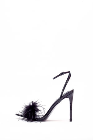 (30% OFF) RAE FEATHER PATENT SANDAL - BLACK