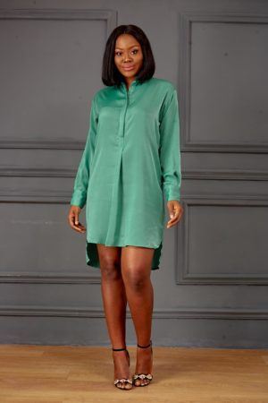 KOTON GREEN SHIRT DRESS