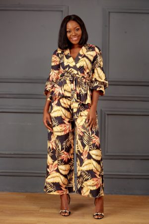 (30% OFF) YELLOW FLORAL SUIT SET