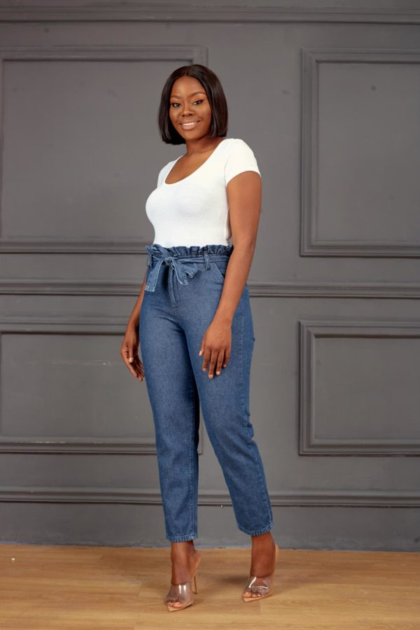 KOTON BLUE HIGH WAIST MOM JEANS