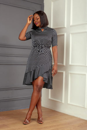 KOTON SPOTTY WRAP DRESS