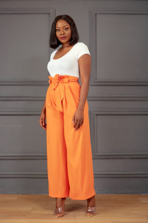 ORANGE HIGH WAIST PALAZZOS