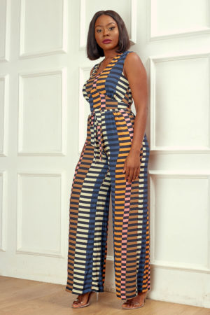 KOTON TRIBAL PRINT JUMPSUIT