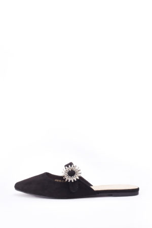 WAGCHIC BLACK EMBELLISHED SLIP ON