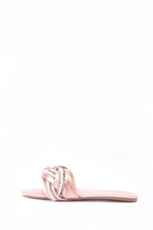 WAGCHIC EMBELLISHED SLIPPERS - PINK