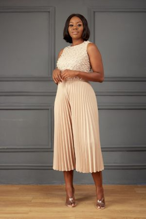 ROHIM PLEATED CULOTTES - TAUPE