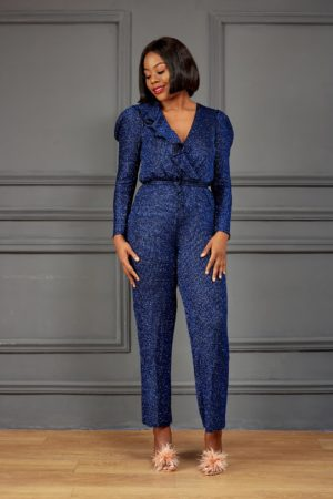 BLUE SHIMMER JUMPSUIT