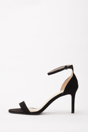 BACKFIRE MIDI HEEL SANDALS - BLACK