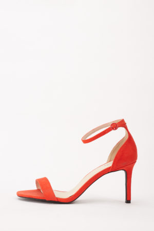 BACKFIRE MIDI HEEL SANDALS - ORANGE