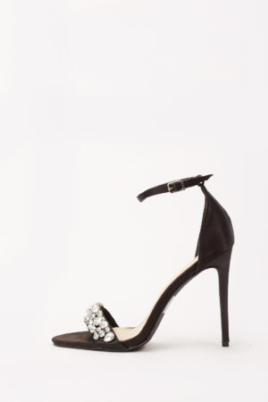 BARBARA EMBELLISHED SANDALS - BLACK