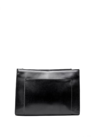 RUFFLE & PLAIN HANDLE TOTE - BLACK