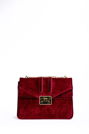 VELVET C&K MINI CHAIN BAG - PLUM
