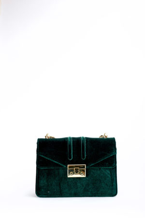 VELVET C&K MINI CHAIN BAG - TEAL