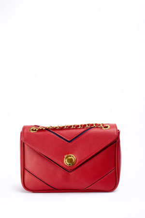 CROC GOLD LOCK CHAIN BAG - RED