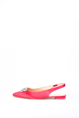 (2 FOR 17K)WAGCHIC EMBELLISHED SLING BACK FLATS - FUCHSIA