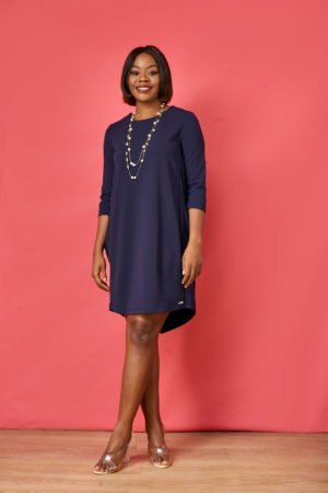 AR SIDE POCKET TUNIC - NAVY
