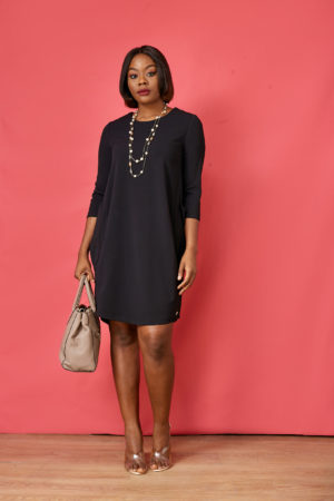 AR SIDE POCKET TUNIC - BLACK