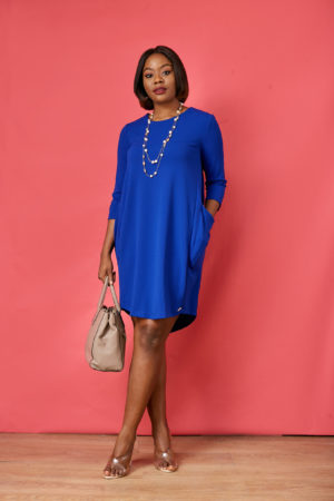 AR SIDE POCKET TUNIC - COBALT BLUE