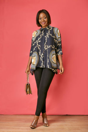 VERSACE INSPIRED PRINT BLOUSE