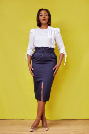 KOTON NAVY CHINOS HIGHWAIST SKIRT